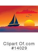 Royalty-Free (RF) Sailboat Clipart Illustration #14029