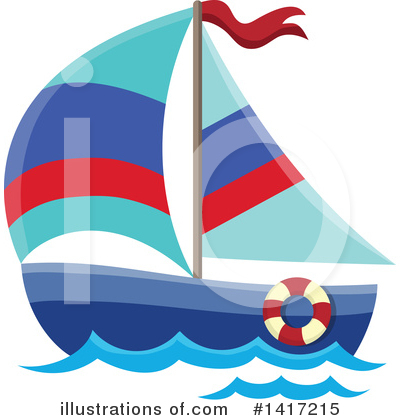 Sailboat Clipart #1417215 by visekart