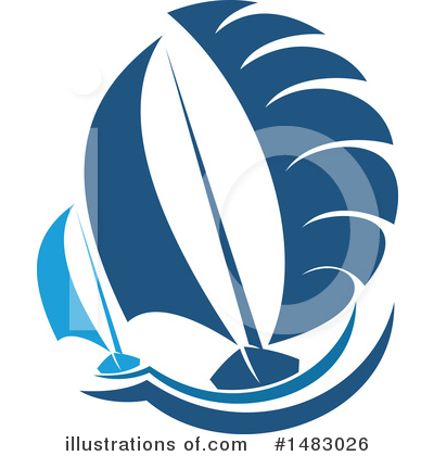 Sailboat Clipart #1483026 by Vector Tradition SM