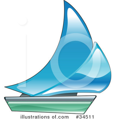 Sailboat Clipart #34511 by AtStockIllustration