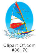 Royalty-Free (RF) Sailboat Clipart Illustration #38170