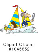 Royalty-Free (RF) Sailing Clipart Illustration #1046852