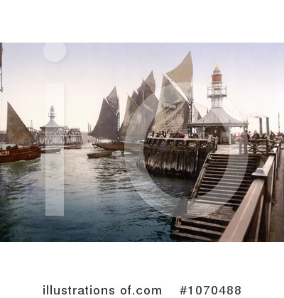 Royalty-Free (RF) Sailing Clipart Illustration by JVPD - Stock Sample #1070488