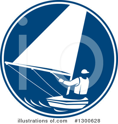 Royalty-Free (RF) Sailing Clipart Illustration by patrimonio - Stock Sample #1300628