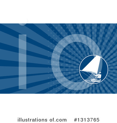 Royalty-Free (RF) Sailing Clipart Illustration by patrimonio - Stock Sample #1313765