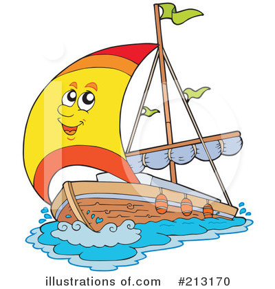 Royalty-Free (RF) Sailing Clipart Illustration by visekart - Stock Sample #213170