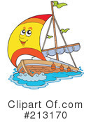 Royalty-Free (RF) sailing Clipart Illustration #213170