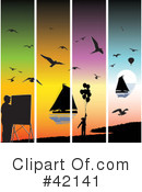 Royalty-Free (RF) sailing Clipart Illustration #42141