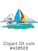 Royalty-Free (RF) sailing Clipart Illustration #438528