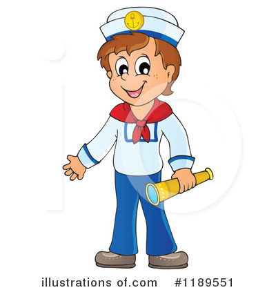 Royalty-Free (RF) Sailor Clipart Illustration by visekart - Stock Sample #1189551