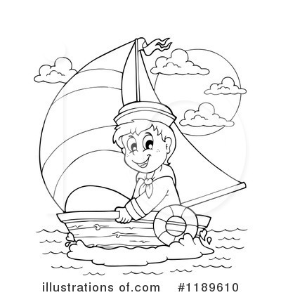 Sailboat Clipart #1189610 by visekart