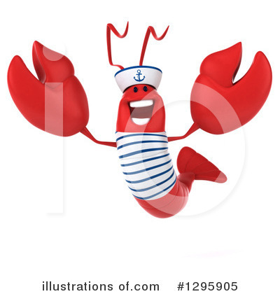 Royalty-Free (RF) Sailor Lobster Clipart Illustration by Julos - Stock Sample #1295905