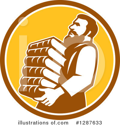 Librarian Clipart #1287633 by patrimonio