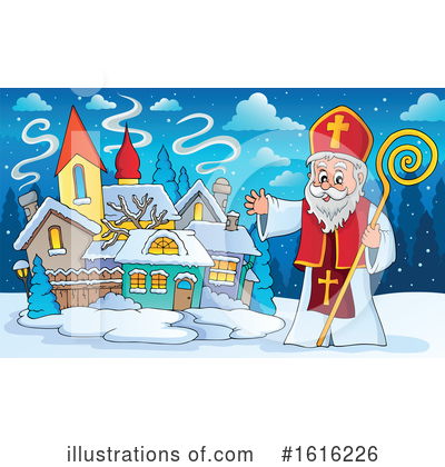 Royalty-Free (RF) Saint Nicholas Clipart Illustration by visekart - Stock Sample #1616226