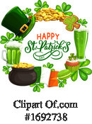 Saint Paddys Day Clipart #1692738 by Vector Tradition SM