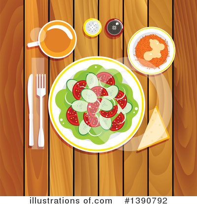 Vegetarian Clipart #1390792 by Vector Tradition SM