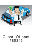 Royalty-Free (RF) Salesman Clipart Illustration #85346
