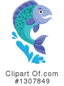 Royalty-Free (RF) Salmon Clipart Illustration #1307849