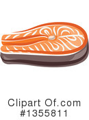 Salmon Clipart #1355811 by Vector Tradition SM