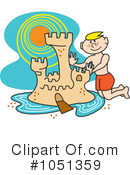 Royalty-Free (RF) sand castle Clipart Illustration #1051359