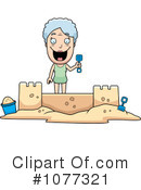 Royalty-Free (RF) Sand Castle Clipart Illustration #1077321