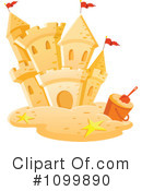 Royalty-Free (RF) sand castle Clipart Illustration #1099890