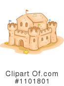 Royalty-Free (RF) sand castle Clipart Illustration #1101801