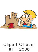 Royalty-Free (RF) sand castle Clipart Illustration #1112508