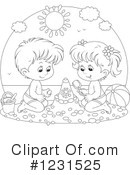 Sand Castle Clipart #1231525 by Alex Bannykh