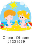Sand Castle Clipart #1231539 by Alex Bannykh