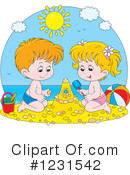 Sand Castle Clipart #1231542 by Alex Bannykh