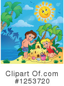 Royalty-Free (RF) Sand Castle Clipart Illustration #1253720