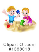 Sand Castle Clipart #1368018 by AtStockIllustration