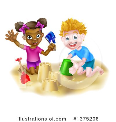 Sand Castle Clipart #1375208 by AtStockIllustration