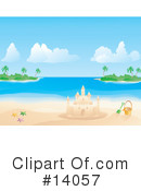 Royalty-Free (RF) Sand Castle Clipart Illustration #14057