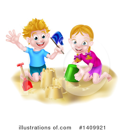 Royalty-Free (RF) Sand Castle Clipart Illustration by AtStockIllustration - Stock Sample #1409921