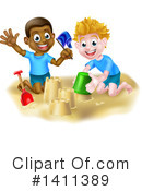 Sand Castle Clipart #1411389 by AtStockIllustration