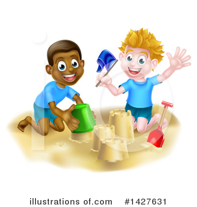 Sand Castle Clipart #1427631 by AtStockIllustration