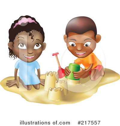 Royalty-Free (RF) Sand Castle Clipart Illustration by Geo Images - Stock Sample #217557