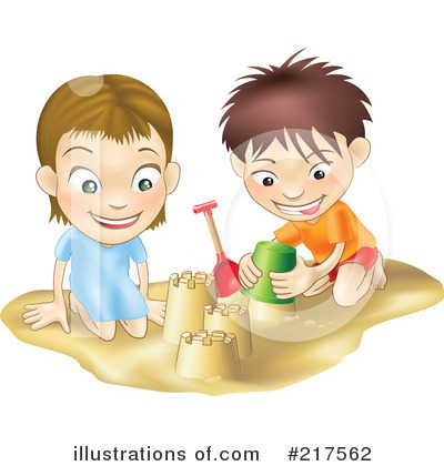 Sand Castle Clipart #217562 by AtStockIllustration