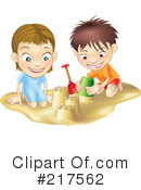 Royalty-Free (RF) sand castle Clipart Illustration #217562