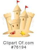 Royalty-Free (RF) sand castle Clipart Illustration #76194