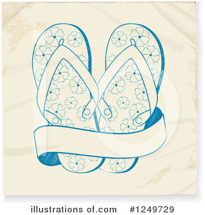 Sandals Clipart #1249729 by elaineitalia