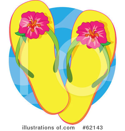 Royalty-Free (RF) Sandals Clipart Illustration by Maria Bell - Stock Sample #62143