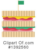 Royalty-Free (RF) Sandwich Clipart Illustration #1392560