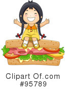 Sandwich Clipart #95789 by BNP Design Studio