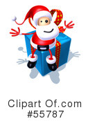 Royalty-Free (RF) Santa Character Clipart Illustration #55787