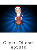 Royalty-Free (RF) Santa Character Clipart Illustration #55810