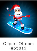 Royalty-Free (RF) Santa Character Clipart Illustration #55819