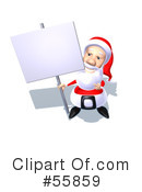 Royalty-Free (RF) Santa Character Clipart Illustration #55859